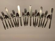 1847 Rogers Bros Silver Plated Flatware Heritage Pattern Set Serving +5-4pc Set