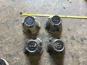 Set Of 4 1977-1979 1978 Ford Thunderbird Center Caps Hubcaps Plastic Vintage