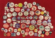 Huge Group Of 86 Vintage Sports Pins Buttons Football Baseball Nba College Nhl