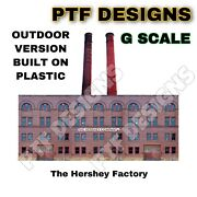 Outdoor G Scale Scratch Built Hershey Factory Building Flat W/led Front Lgb