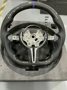 New Carbon Fiber Perforated Leather Steering Wheel + Cover For Bmw M1 M2 M3 M4