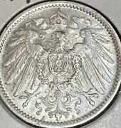 1909 A 1 Mark Silver Germany Choice Uncirculated .900 Pure Silver