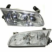 Headlight Set For 2000-2001 Toyota Camry Sedan Left And Right With Bulb Capa 2pc