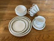 Vintage Corelle By Corning Spring Blossom, Crazy Daisy 44 Pc Dinnerware