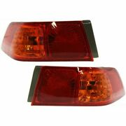 Set Of 2 Tail Light For 2000-2001 Toyota Camry Le Lh And Rh W/ Bulbs