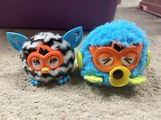 Furby Party Rockers Mini Blue 2012 And Mini Black And White 2013, Untested, As Is