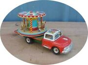 Mer1 Very Very Nice 1956 Circus / Carnival Merry Go Round Truck Japan Works