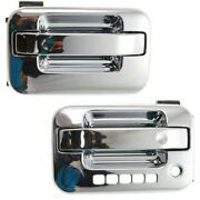 Door Handle Set For 2004-2014 Ford F-150 With Keypad Hole Chrome Front Outer 2pc