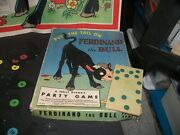 1938 Walt Disney Party Game-put The Tail On Ferdinand The Bull