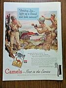1944 Camel Cigarette Ad Ww 2 Attaboy Joe Light Up A Camel And Look Natural