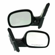 Manual Mirror For 1996-2000 Plymouth Grand Voyager Manual Folding Paintable 2pc