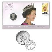 Australia 2016 Queen Elizabeth Ii 90th Birthday Stamp And 20c Maklouf Coin - Pnc