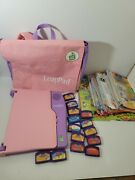 Leapfrog Leappad Learning Systempink/purple Lot W/14 Games And 16 Books And 2 Puzzle