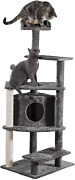 Cat Tree Tower Tiger Tough Tall Cat Tree Entertainment Playground Furniture