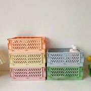 Collapsible Storage Organizer Box Basket Crate Folding Cosmetic Container D5g4