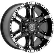 4-panther Offroad 810 17x9 6x135/6x5.5 +0mm Black/machined Wheels Rims 17 Inch