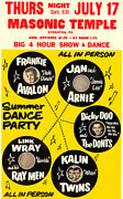 Link Wray - Jan And Arnie - Kalin Twins - 1959 - Concert Poster