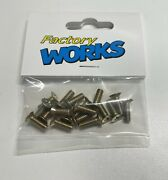 """Factory Works Associated 3224 6280 Style 8/32 X 1/2"""" Vtg Repro Gold Screws-read"""