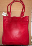 New Cole Haan Market Tote Linley Tango Red