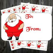 Father Christmas Large To From Stickers Gift Tags Labels Sticky Gr Ahl