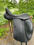 Ideal Suzannah Monoflap Dressage Saddle. 17.5 Xw. Hard To Find