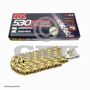 Motorcycle Chain Gold Xw Ring Rk Gb530zxw With 106 Rolls And Rivet Link Open