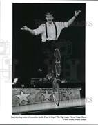 Press Photo Comedian Justin Case In Oops, The Big Apple Circus Stage Show