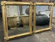 Pair Of Large 19th Century Water Gilt Mirrors