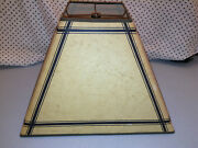 Vintage Early 1970's Game Room Triangle Style Paper Lamp Shade
