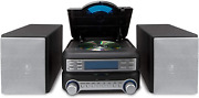 Compact Cd Player Stereo Home Music High Quality System With Am Fm Tuner Black