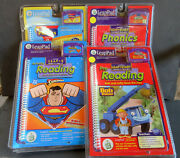 Lot Of 4 Leap Pad Leap Start And Leap 2 New Cartridge And Book--phonics Prereading