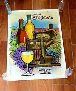 Vintage Amado Gonzales Wines From California Poster Beautiful Colors We Ship