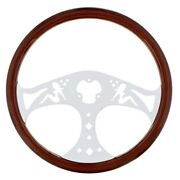 United Pacific 88219 18 Chrome Lady Steering Wheel