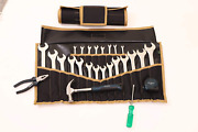 22 Pocket Wrench And Tool Roll Up Pouch Organizer Bag Handmade Waterproof