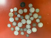 Lot Of 5.90 Face Value Canadian .925 Silver Canadian Coins Weak Or No Dates