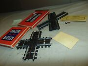 Lionel O 120 + 130 Super O Crossovers In Original Box And Packets...1...