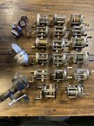 Vintage Fishing Reel Lot Of 20 Zebco Shakespeare Garcia Mitchell As-is Collector