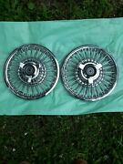 1967 Cougar Wire Wheel Covers Hub Caps Pair C7wy 1130 C