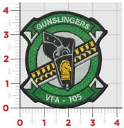 4 Navy Vfa-105 Gunslingers Wing Squadron Color Military Embroidered Patch