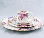 Spode Chelsea Garden 5 Piece Place Setting Multiple Available Mustard Trim