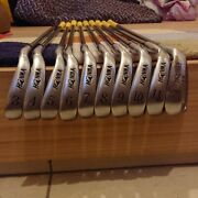 Honma Golf Iron Lb-606 New H And F Gold Mole Star 4 10-piece Set From Japan Used
