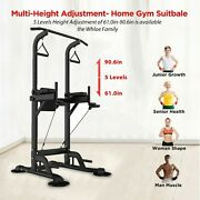 Heavy Duty Dip Station Pull Push Chin Up Bar Fitness Power Tower Body Exercise
