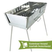 Mangal Grill Kebab Shashlyk Stainless Steel 10 Bbq Portable Barbeque Skewers New