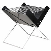 Portable Folding Charcoal Grill Stainless Steel Cooking Grate Tabletop M4q1