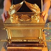 Xxl Gold Tone Copper Jumbo Size Ark Of The Covenant Bible Israel Gift 60 Lbs
