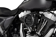 Vance And Hines Black Vo2 America Air Filter Cleaner Kit 08-17 Harley Touring
