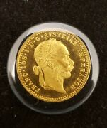 1915 One 1 Ducat .986 Pure Fine Gold Ms Austrian Coin .1106 T. Ounce