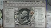 Coin Roll Hunting Mat - Quarters, Dimes, Nickels, And Pennies And 2021 Red Book