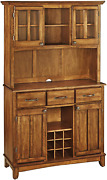 Large Buffet Cupboard Two-door Sideboard With Drawers Shelves Hutch Wine Storage