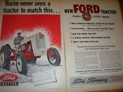 Vintage Ford Farm Advertising -golden Jubilee Ford Tractor - 1953